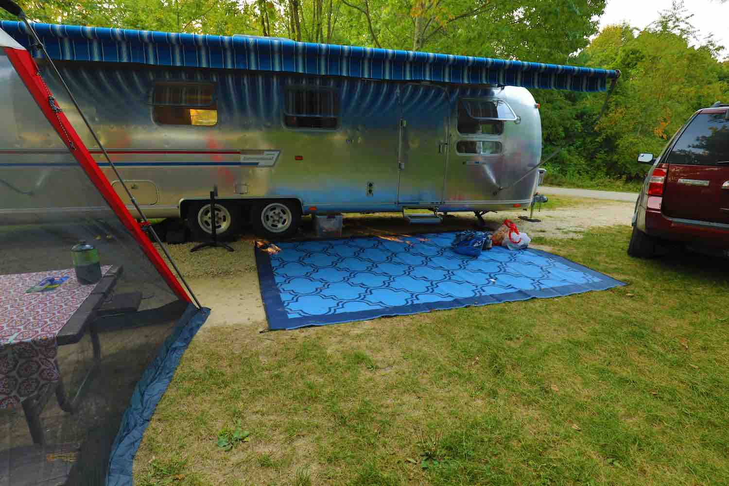 We are ready to camp in our Airstream RV Trailer.