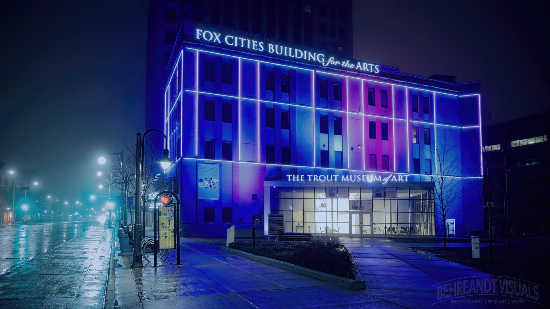The Fox Cities Building for the Arts, home of the Trout Museum in Appleton, Wisconsin.
